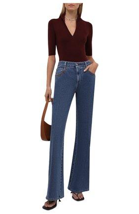 Женский шерстяной пуловер VALENTINO бордового цвета, арт. WB3KC25J6MV | Фото 2 (Материал внешний: Шерсть; Рукава: 3/4; Длина (для топов): Стандартные; Женское Кросс-КТ: Пуловер-одежда; Стили: Кэжуэл)