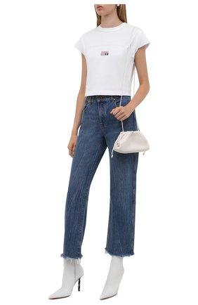 Женская хлопковая футболка ALEXANDER WANG белого цвета, арт. 1CC3211495   Фото 2