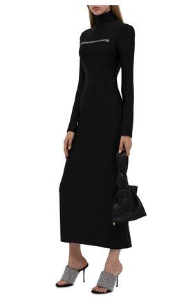 Женское платье ALEXANDER WANG черного цвета, арт. 1CC3216414   Фото 2