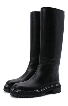 Женские кожаные сапоги PROENZA SCHOULER черного цвета, арт. PS35282A/12140 | Фото 1 (Материал внутренний: Натуральная кожа; Каблук высота: Низкий; Подошва: Платформа; Высота голенища: Средние; Каблук тип: Устойчивый)
