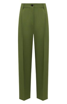 Женские брюки ACNE STUDIOS зеленого цвета, арт. AK0414   Фото 1 (Материал внешний: Шерсть, Синтетический материал; Длина (брюки, джинсы): Стандартные; Женское Кросс-КТ: Брюки-одежда; Стили: Кэжуэл; Силуэт Ж (брюки и джинсы): Прямые)