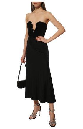 Женские кожаные босоножки josefine 100 JIMMY CHOO черного цвета, арт. J0SEFINE 100/SIW | Фото 2
