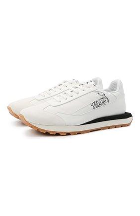 Мужские кожаные кроссовки BERLUTI белого цвета, арт. S5544-001   Фото 1 (Материал внутренний: Текстиль, Натуральная кожа; Подошва: Плоская; Стили: Классический)