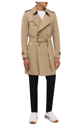 Мужские кожаные кроссовки BERLUTI белого цвета, арт. S5544-001   Фото 2 (Материал внутренний: Текстиль, Натуральная кожа; Подошва: Плоская; Стили: Классический)