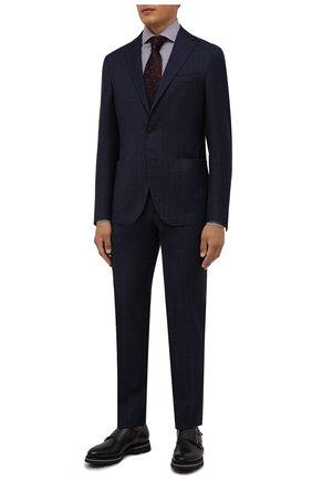 Мужской шерстяной костюм CORNELIANI темно-синего цвета, арт. 88N700-1817404/00 | Фото 1