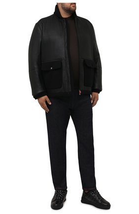 Мужская дубленка KITON черного цвета, арт. UW1009V0384A/64-72 | Фото 2