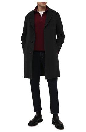 Мужской хлопковый джемпер POLO RALPH LAUREN бордового цвета, арт. 710671929   Фото 2