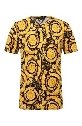 Мужская хлопковая футболка VERSACE желтого цвета, арт. 1000959/1A00515   Фото 1