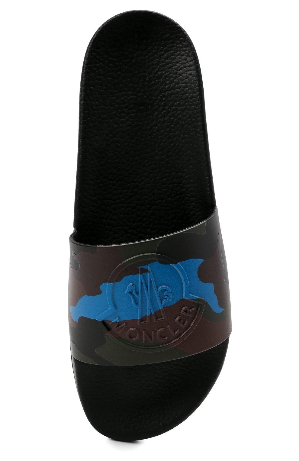 Мужские резиновые шлепанцы basile MONCLER разноцветного цвета, арт. G2-09A-4C700-40-02SYU | Фото 5 (Материал внешний: Резина)