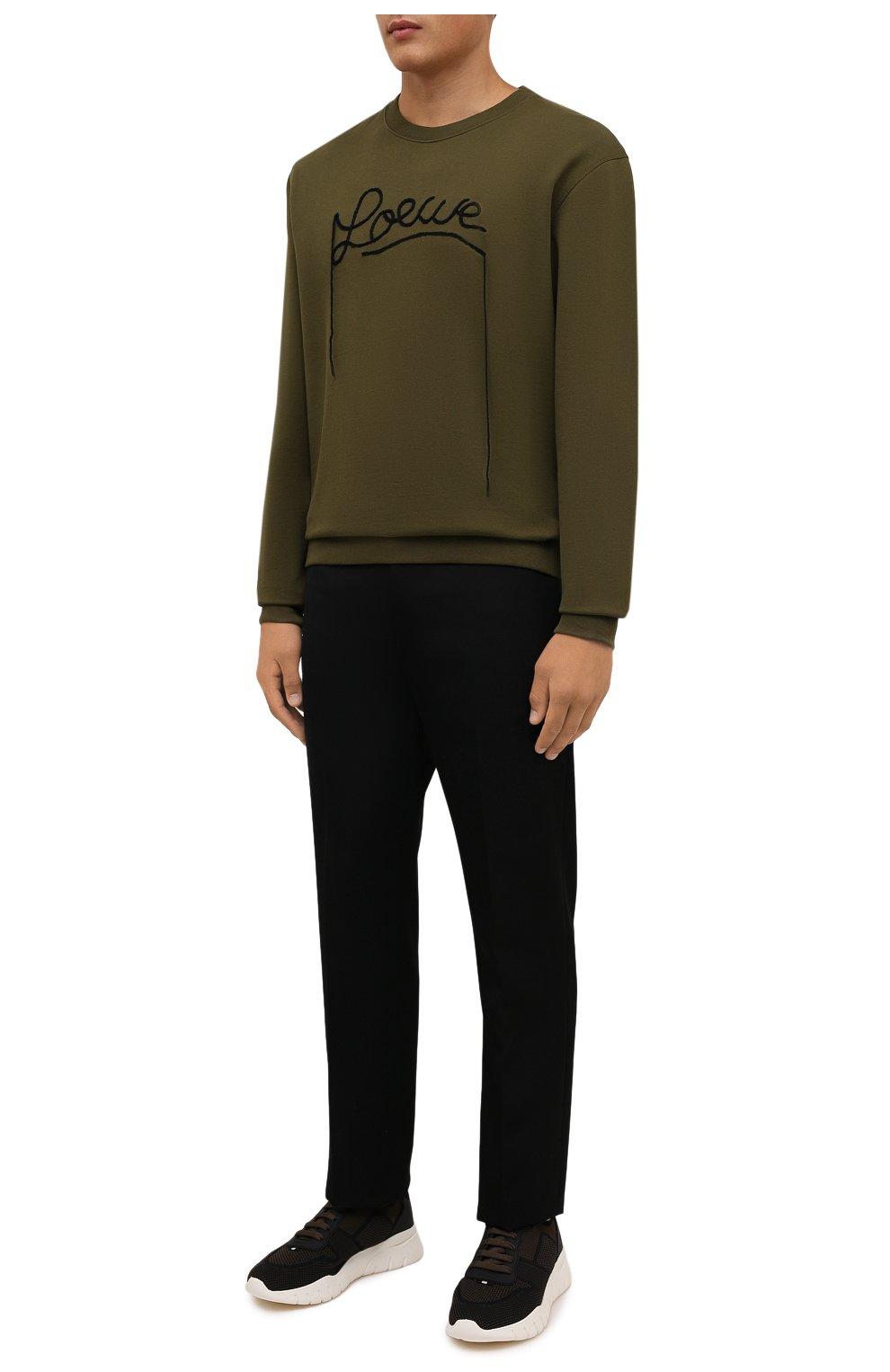 Мужские текстильные кроссовки bieny BALLY коричневого цвета, арт. BIENY-T/223   Фото 2 (Материал внешний: Текстиль; Материал внутренний: Натуральная кожа; Подошва: Массивная; Стили: Спорт)