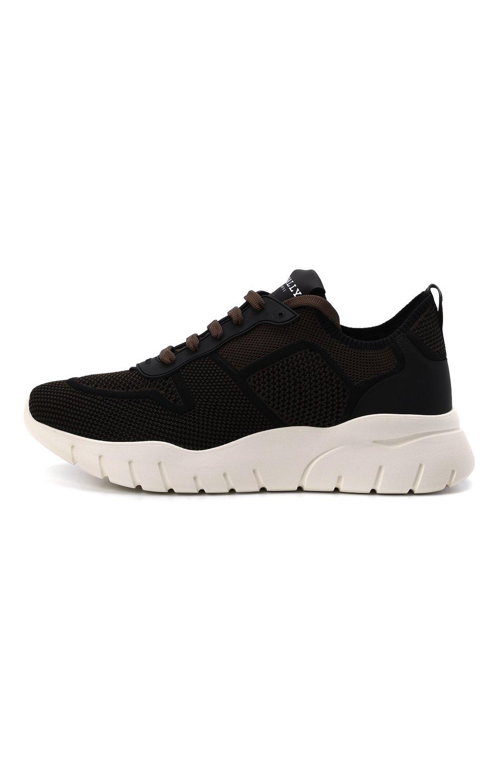 Мужские текстильные кроссовки bieny BALLY коричневого цвета, арт. BIENY-T/223   Фото 3 (Материал внешний: Текстиль; Материал внутренний: Натуральная кожа; Подошва: Массивная; Стили: Спорт)