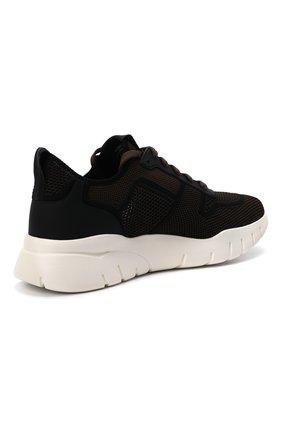 Мужские текстильные кроссовки bieny BALLY коричневого цвета, арт. BIENY-T/223   Фото 4 (Материал внешний: Текстиль; Материал внутренний: Натуральная кожа; Подошва: Массивная; Стили: Спорт)