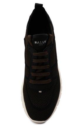 Мужские текстильные кроссовки bieny BALLY коричневого цвета, арт. BIENY-T/223   Фото 5 (Материал внешний: Текстиль; Материал внутренний: Натуральная кожа; Подошва: Массивная; Стили: Спорт)