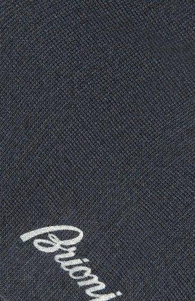 Мужские шерстяные носки BRIONI серо-голубого цвета, арт. 0VMC00/01Z08 | Фото 2 (Материал внешний: Шерсть; Кросс-КТ: бельё)