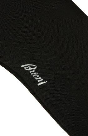 Мужские шерстяные носки BRIONI черного цвета, арт. 0VMC00/01Z08 | Фото 2 (Материал внешний: Шерсть; Кросс-КТ: бельё)