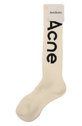 Мужские хлопковые носки ACNE STUDIOS кремвого цвета, арт. C80085/M   Фото 1