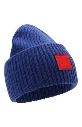 Мужская шерстяная шапка ACNE STUDIOS синего цвета, арт. C40135/M | Фото 1 (Материал: Шерсть; Кросс-КТ: Трикотаж)