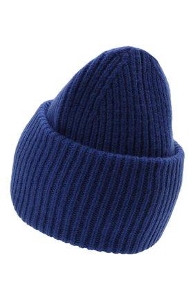 Мужская шерстяная шапка ACNE STUDIOS синего цвета, арт. C40135/M | Фото 2 (Материал: Шерсть; Кросс-КТ: Трикотаж)