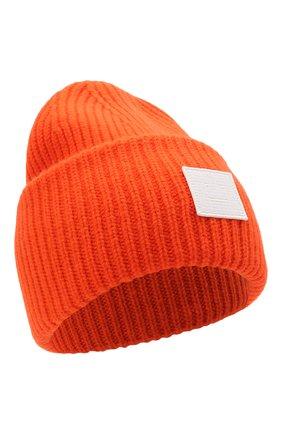 Мужская шерстяная шапка ACNE STUDIOS оранжевого цвета, арт. C40135/M | Фото 1 (Материал: Шерсть; Кросс-КТ: Трикотаж)
