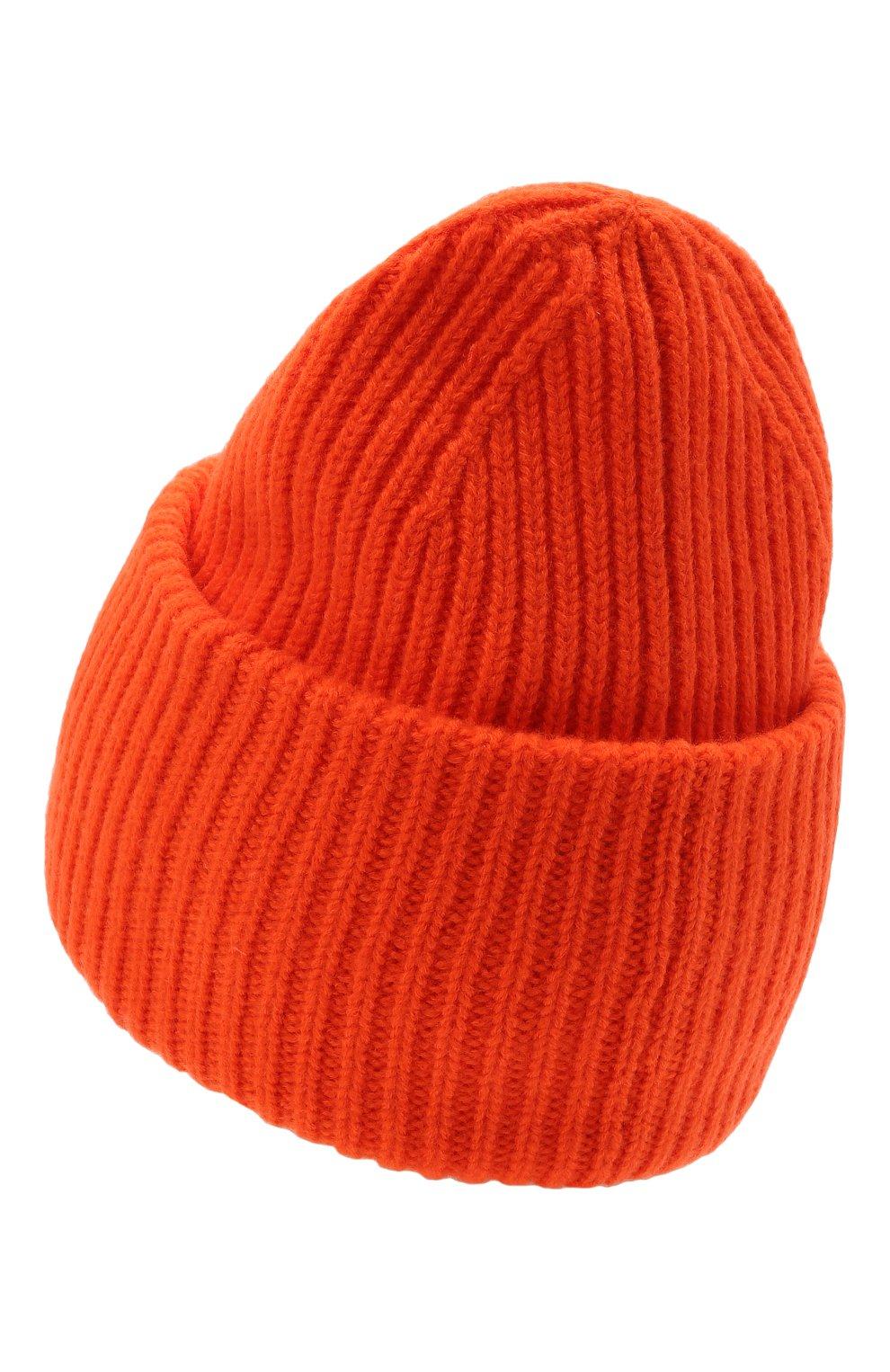 Мужская шерстяная шапка ACNE STUDIOS оранжевого цвета, арт. C40135/M | Фото 2 (Материал: Шерсть; Кросс-КТ: Трикотаж)