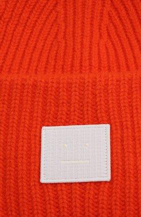 Мужская шерстяная шапка ACNE STUDIOS оранжевого цвета, арт. C40135/M | Фото 3 (Материал: Шерсть; Кросс-КТ: Трикотаж)
