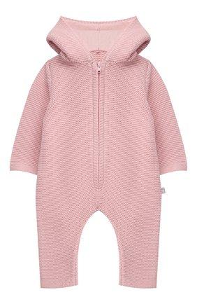 Детского хлопковый комбинезон STELLA MCCARTNEY розового цвета, арт. 603417/SRM10 | Фото 1