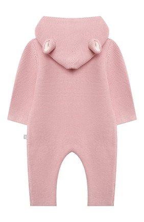 Детского хлопковый комбинезон STELLA MCCARTNEY розового цвета, арт. 603417/SRM10 | Фото 2