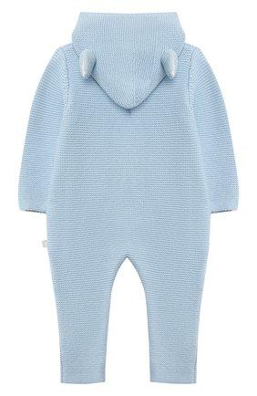 Детского хлопковый комбинезон STELLA MCCARTNEY голубого цвета, арт. 603416/SRM10/9M | Фото 2 (Рукава: Длинные; Материал внешний: Хлопок)