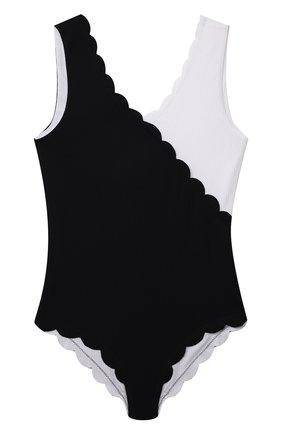 Детского слитный купальник MARYSIA BUMBY черно-белого цвета, арт. B0067 | Фото 1