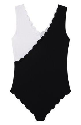 Детского слитный купальник MARYSIA BUMBY черно-белого цвета, арт. B0067 | Фото 2