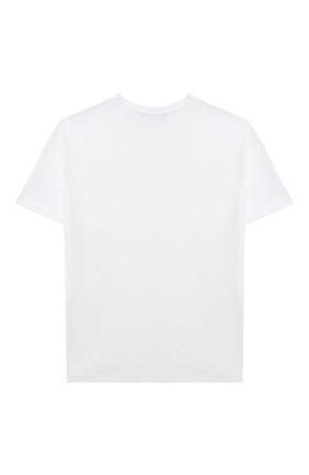 Детская хлопковая футболка MSGM KIDS белого цвета, арт. MS027706 | Фото 2