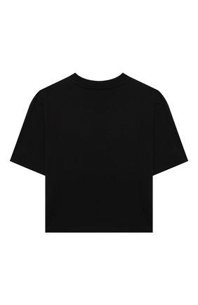 Детская хлопковая футболка MSGM KIDS черного цвета, арт. MS027799 | Фото 2