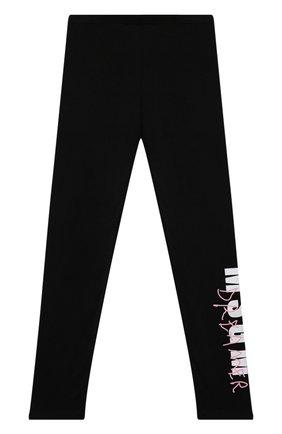 Детские хлопковые брюки MSGM KIDS черного цвета, арт. MS027811 | Фото 1