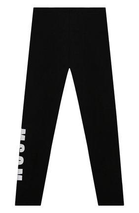 Детские хлопковые брюки MSGM KIDS черного цвета, арт. MS027811 | Фото 2