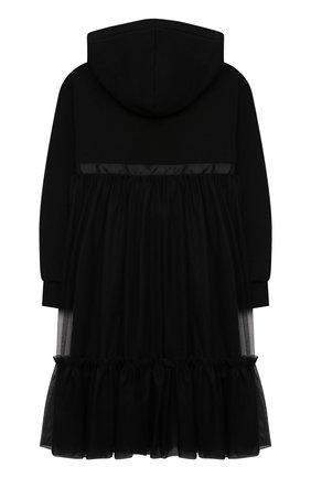 Детское хлопковое платье MSGM KIDS черного цвета, арт. MS027817 | Фото 2