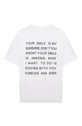 Детская хлопковая футболка MSGM KIDS белого цвета, арт. MS027940 | Фото 2