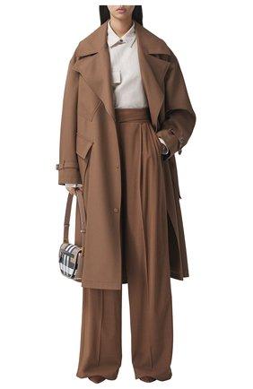 Женское шерстяное пальто BURBERRY коричневого цвета, арт. 8038930/116208 | Фото 2