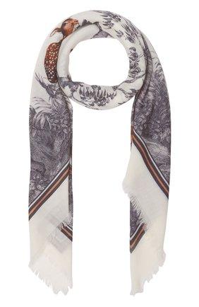 Женский кашемировый платок BURBERRY серого цвета, арт. 8042056/117375 | Фото 1