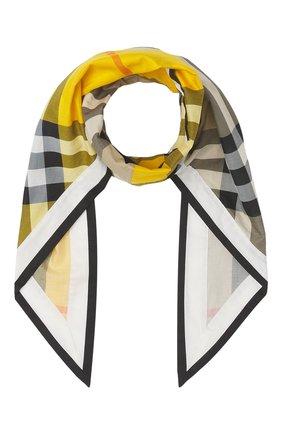 Женский платок BURBERRY бежевого цвета, арт. 8045283/114887 | Фото 1