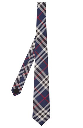 Мужской шелковый галстук BURBERRY темно-синего цвета, арт. 8002113/105301 | Фото 1