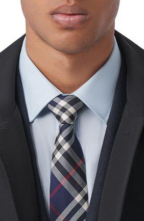 Мужской шелковый галстук BURBERRY темно-синего цвета, арт. 8002113/105301 | Фото 2