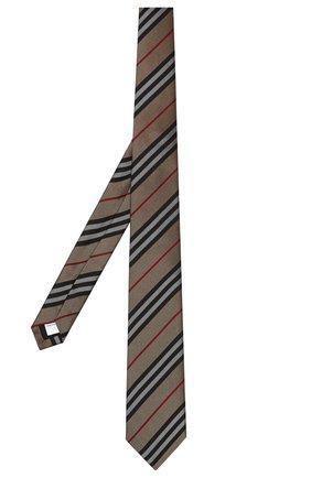 Мужской шелковый галстук BURBERRY бежевого цвета, арт. 8011694/112654 | Фото 1