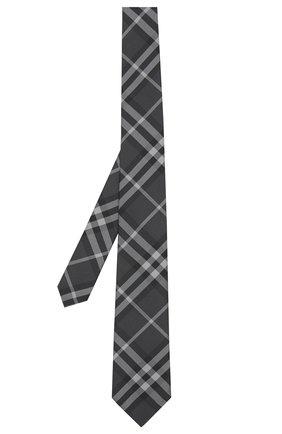 Мужской шелковый галстук BURBERRY темно-серого цвета, арт. 8017265/105301 | Фото 1