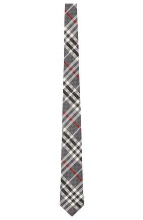 Мужской шелковый галстук BURBERRY серого цвета, арт. 8041570/127881 | Фото 1