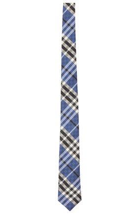 Мужской шелковый галстук BURBERRY синего цвета, арт. 8041571/127881 | Фото 1