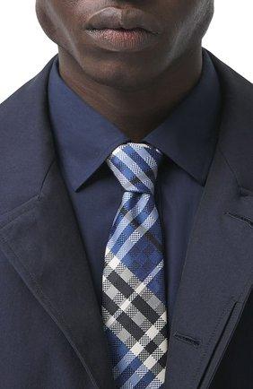 Мужской шелковый галстук BURBERRY синего цвета, арт. 8041571/127881 | Фото 2