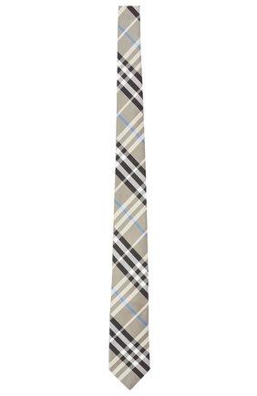 Мужской шелковый галстук BURBERRY бежевого цвета, арт. 8041575/127882 | Фото 1