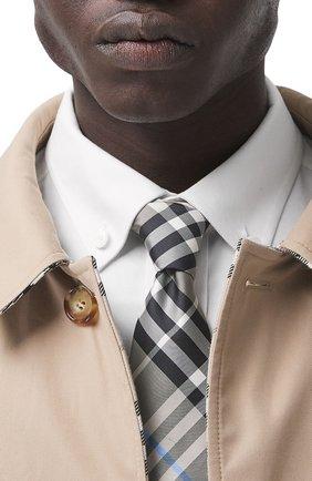 Мужской шелковый галстук BURBERRY бежевого цвета, арт. 8041575/127882 | Фото 2