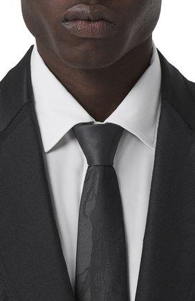 Мужской шелковый галстук BURBERRY черного цвета, арт. 8041996/128009 | Фото 2