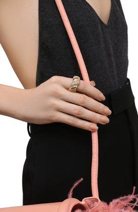 Женское кольцо BOTTEGA VENETA белого цвета, арт. 665858/VB0B6 | Фото 2